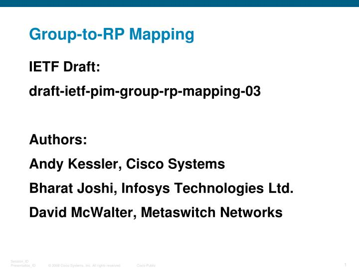 Group to rp mapping