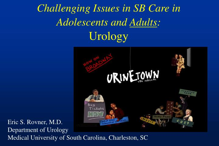 challenging issues in sb care in adolescents and adults urology n.