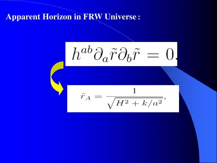 Apparent Horizon in FRW Universe