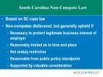 south carolina non compete law