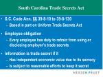 south carolina trade secrets act