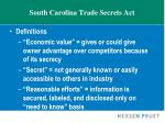 south carolina trade secrets act1