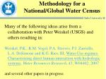 methodology for a national global water census
