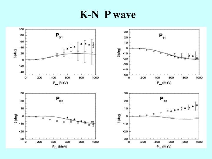 K-N  P wave