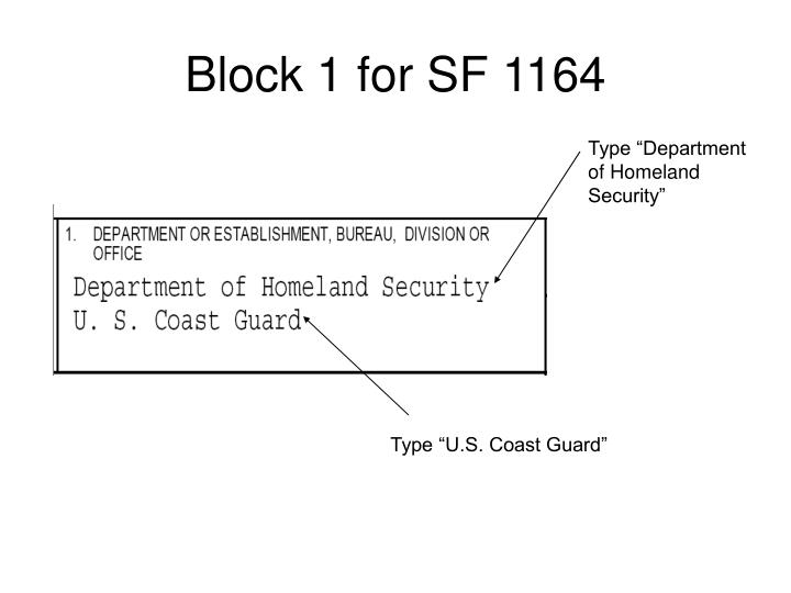 Block 1 for sf 1164