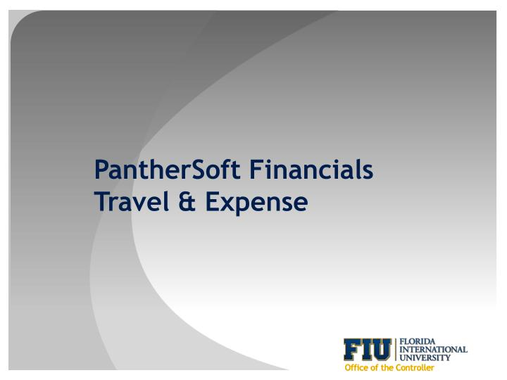panthersoft financials travel expense n.
