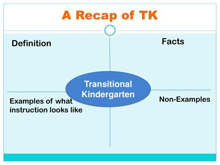 A Recap of TK