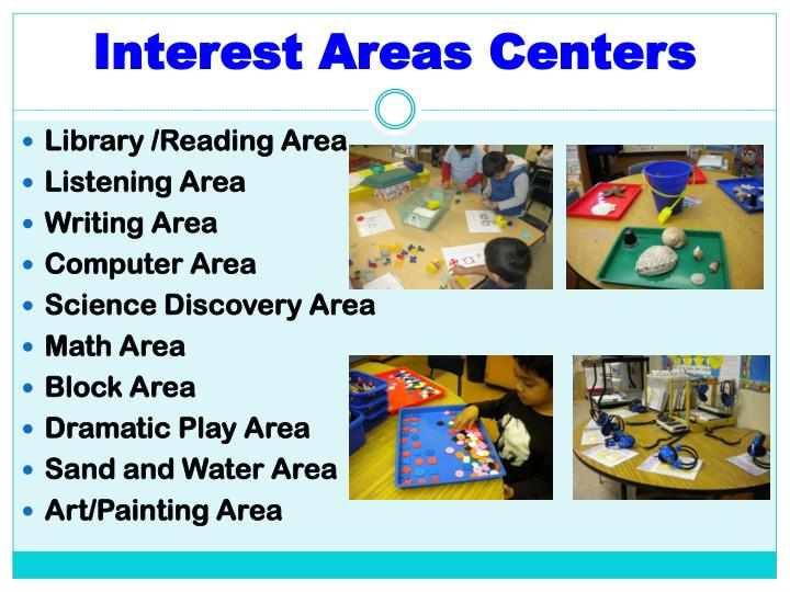 Interest Areas Centers