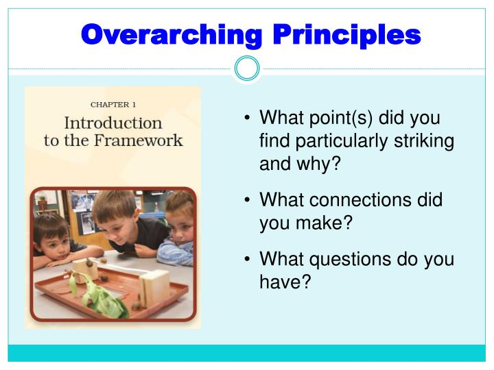 Overarching Principles