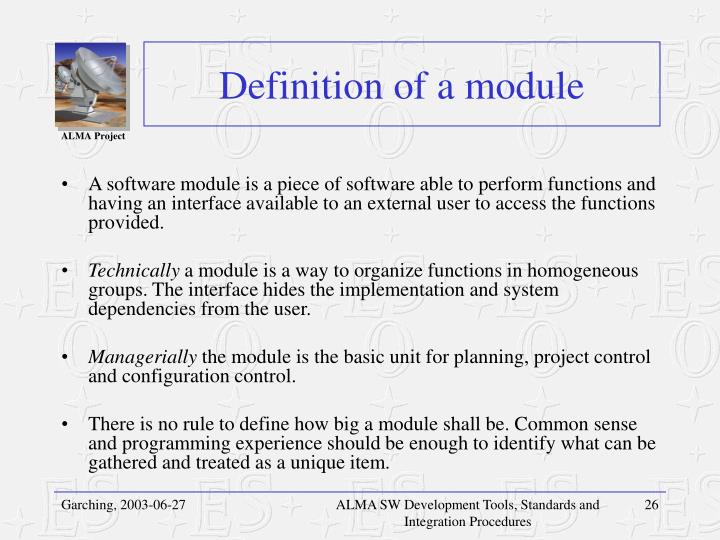 Definition of a module