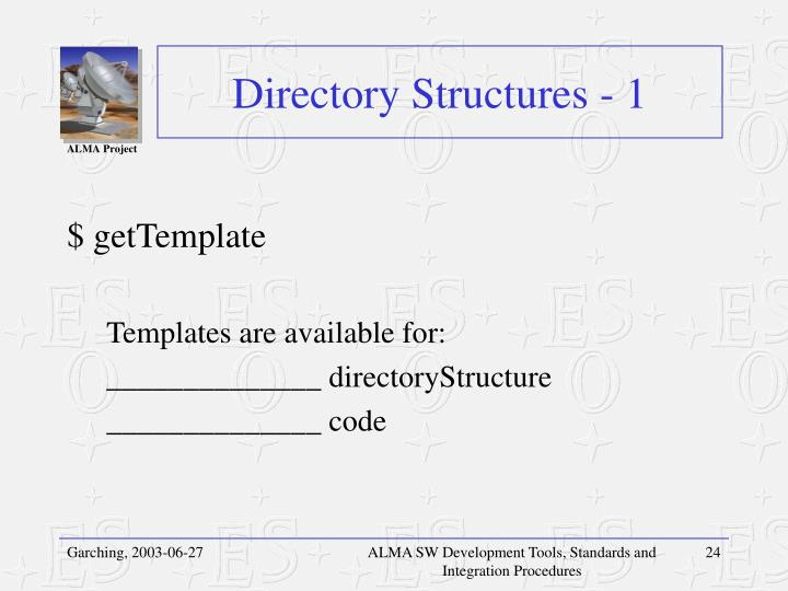 Directory Structures - 1