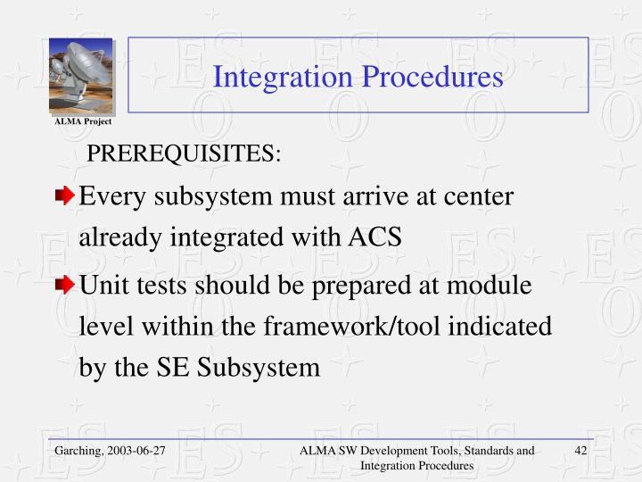 Integration Procedures