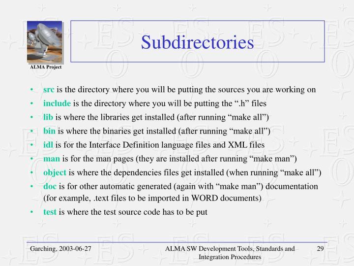 Subdirectories