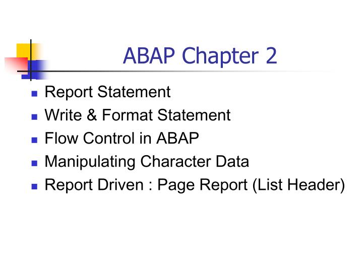 abap chapter 2 n.