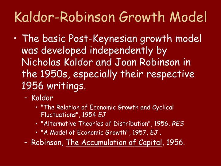 Kaldor Robinson Growth Model