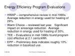 energy efficiency program evaluations
