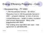 energy efficiency programs cont