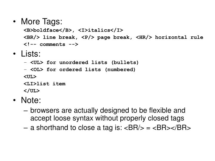 More Tags: