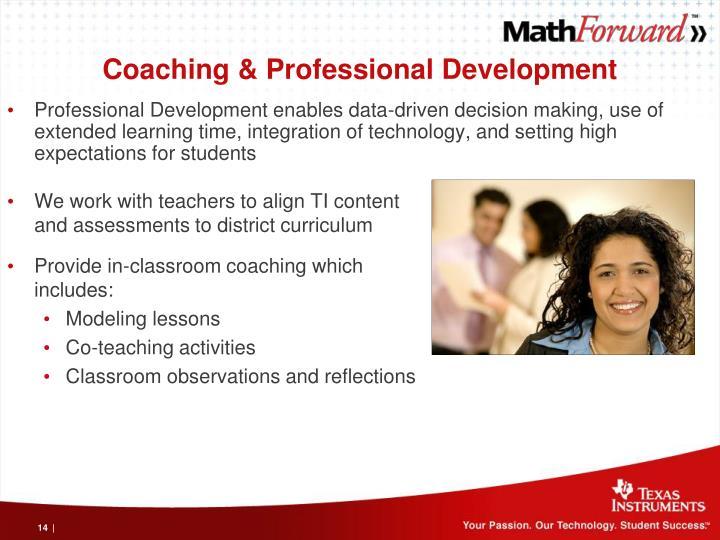 Coaching & Professional Development
