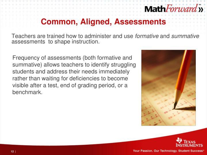 Common, Aligned, Assessments