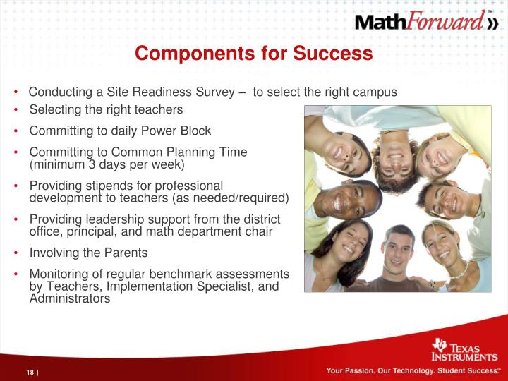 Components for Success
