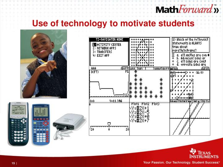 Use of technology to motivate students