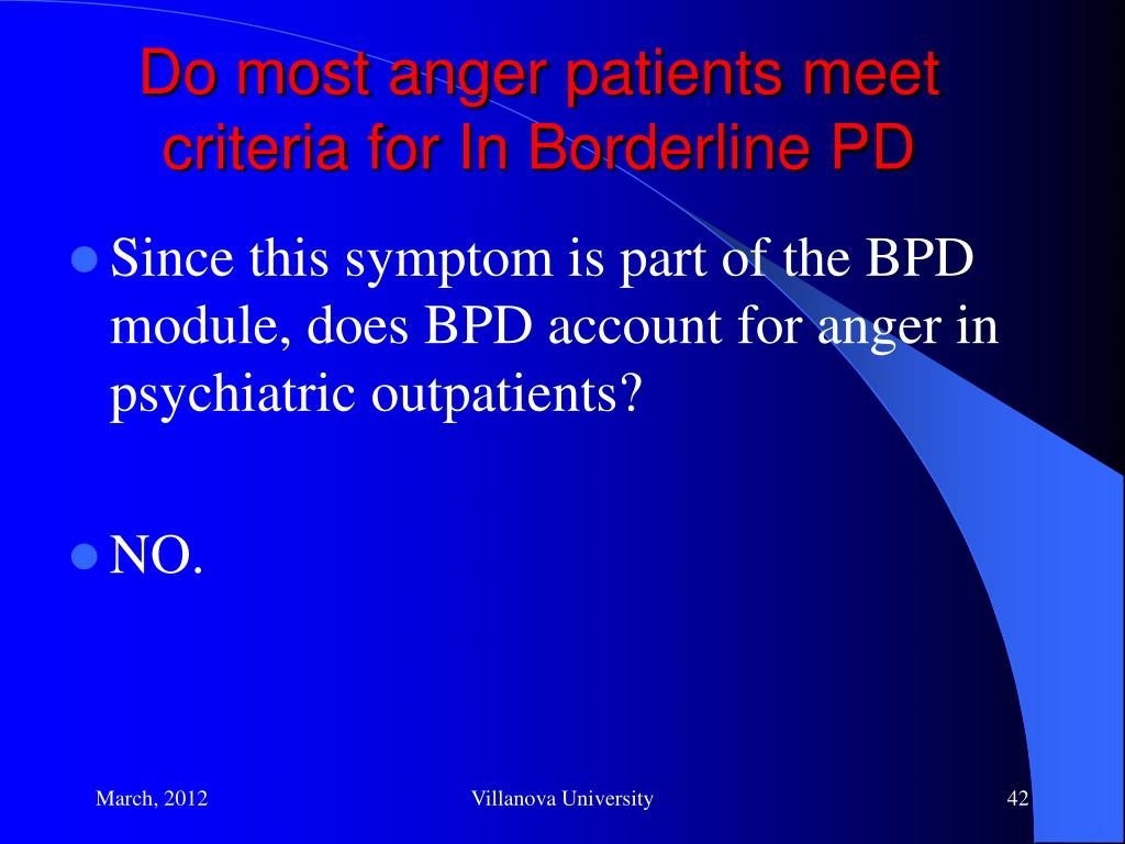 PPT - A Comprehensive Treatment Program for Anger Disorders