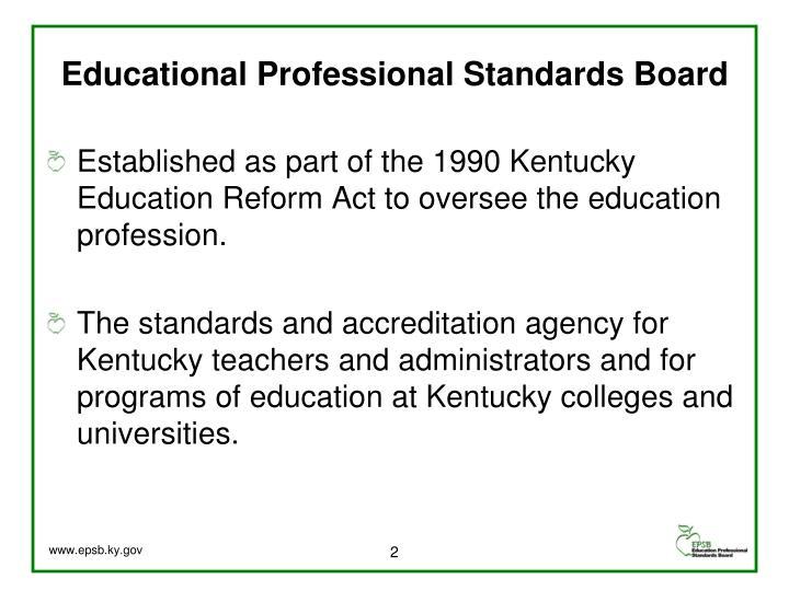 Educational professional standards board