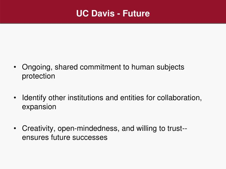 UC Davis - Future