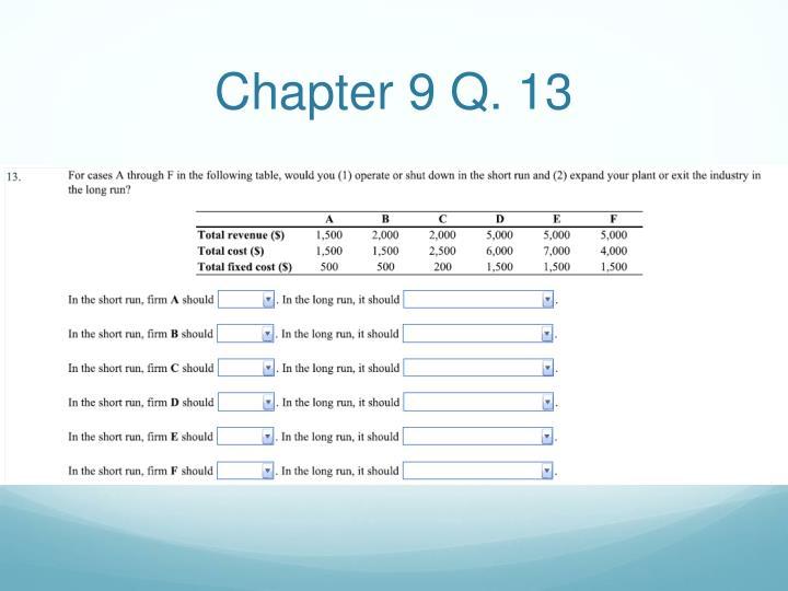 Chapter 9 Q. 13
