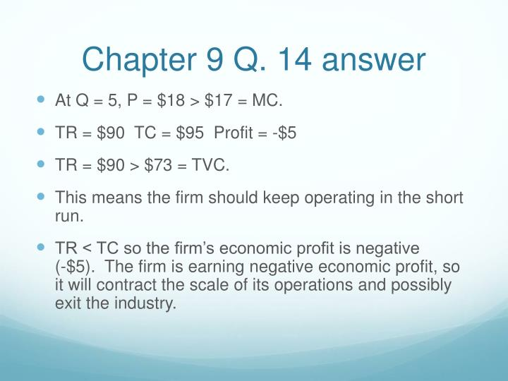 Chapter 9 Q. 14 answer