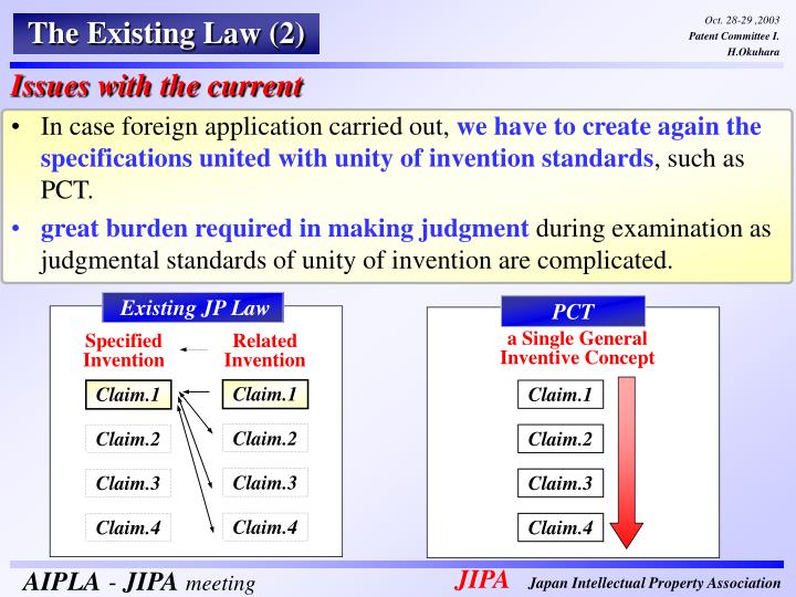 The Existing Law (2)