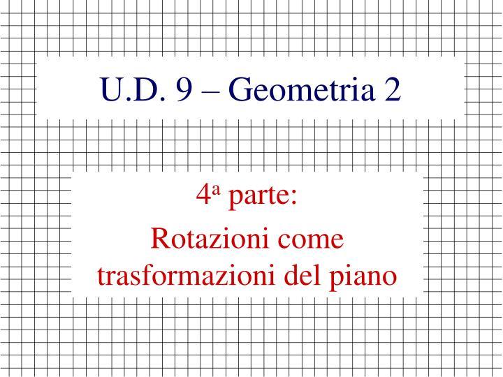 U.D. 9 – Geometria 2