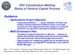 psc coordination meeting status of venture capital process2