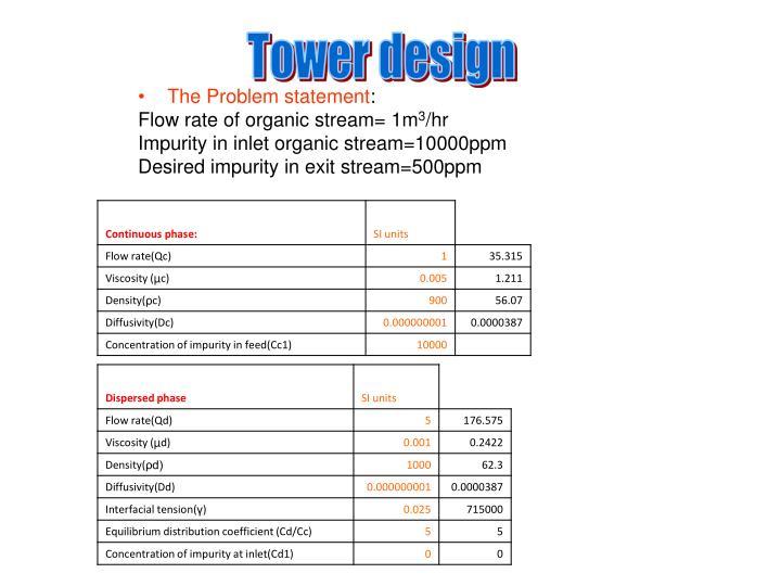 Tower design