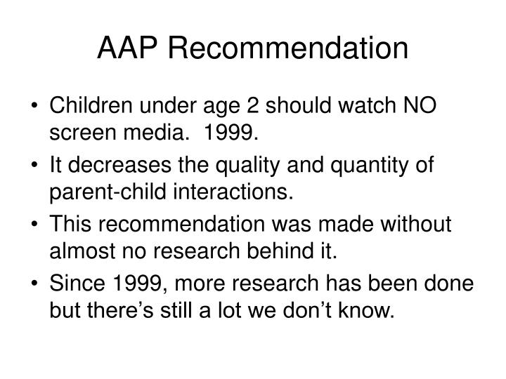 Aap recommendation
