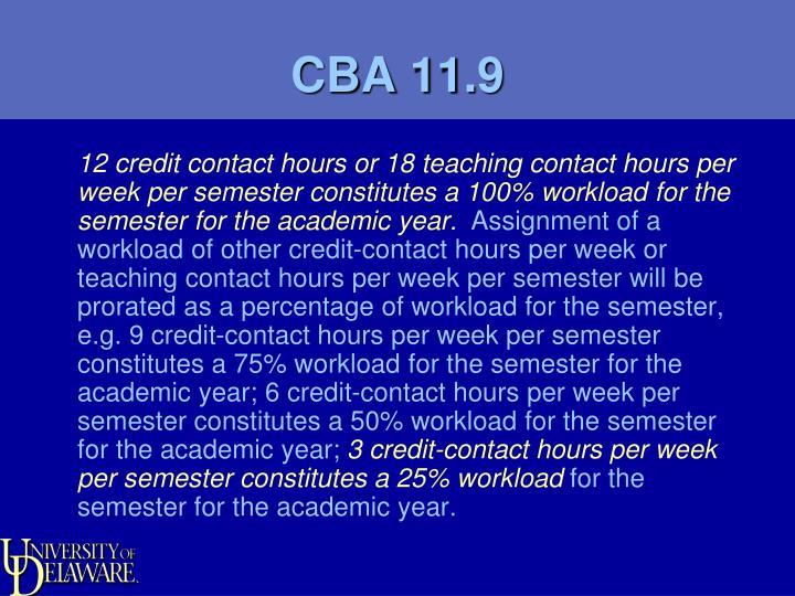 CBA 11.9