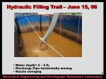 hydraulic filling trail june 15 06