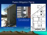 radon mitigation piping