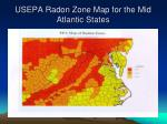 usepa radon zone map for the mid atlantic states