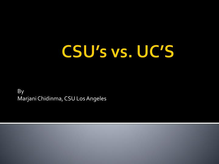 By marjani chidinma csu los angeles