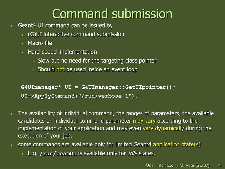 Command submission