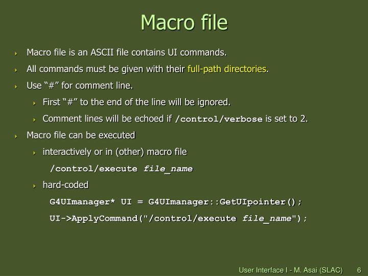 Macro file
