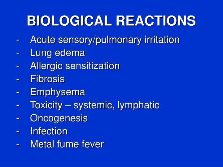 BIOLOGICAL REACTIONS