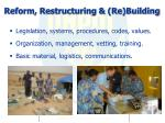 reform restructuring re building
