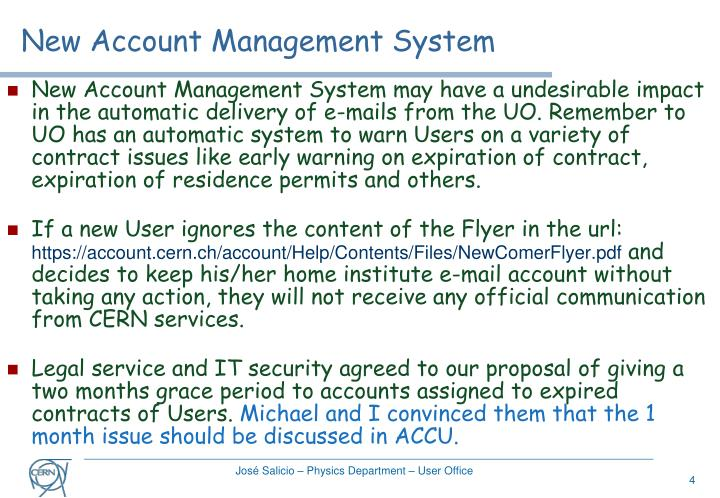 New Account Management System