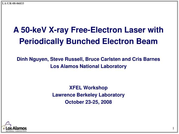 A 50-keV X-ray Free-Electron Laser with