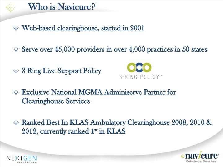 Who is navicure