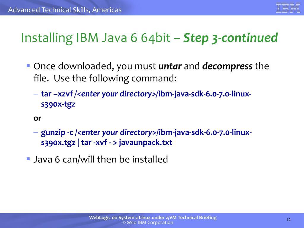 PPT - Oracle WebLogic on IBM System z Linux Under z/VM
