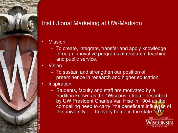 Institutional marketing at uw madison1